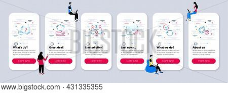 Vector Set Of Business Icons Related To Checkbox, Question Mark And Web Report Icons. Ui Phone App S
