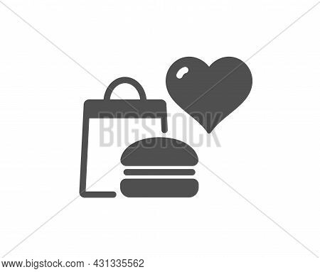 Food Donation Icon. Charity Sign. Charitable Organization Symbol. Classic Flat Style. Quality Design