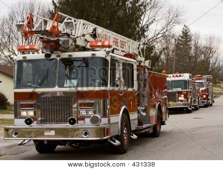 Fire Trucks On The Scene