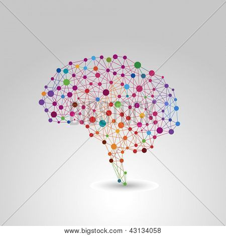 Concepto creativo del cerebro humano, vector illustration