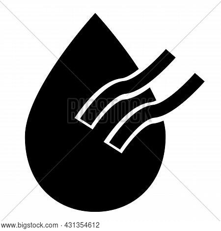 Dry Air Conditioning Icon On White Background. Dry Sign. Water Mark Symbol. Flat Style.