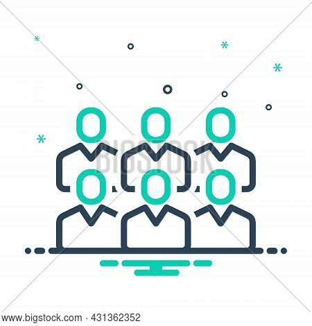 Mix Icon For Public Common Mass Audience People Population Society Citizens