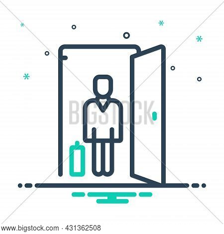 Mix Icon For Guest Visitor Outsider House-guest Person Luggage Holiday Identity