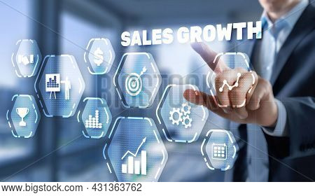 Sales Growth, Increase Sales Or Business Growth Concept