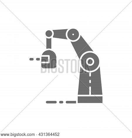 Wireless Robotic Welding Machine, Robotic Arm With Spark Torch Grey Icon.