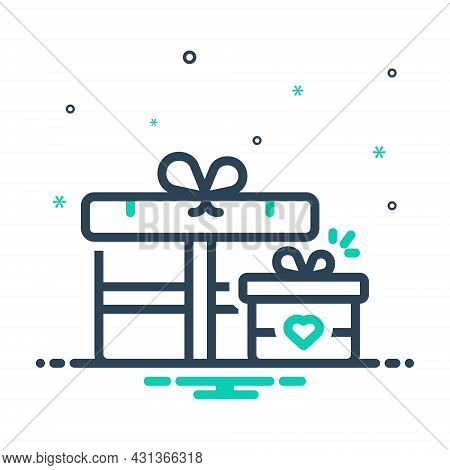 Mix Icon For Gift Giftbox Happy Box Package Present Keepsake Fairing Bounty Love Valentine-gift Anni