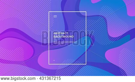 Abstract Geometric Background With Fluid Composition And Purple Gradient