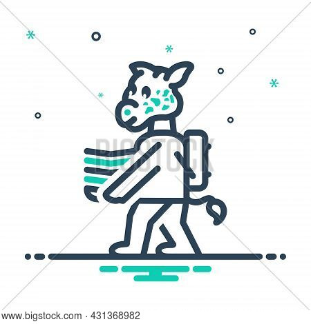 Mix Icon For Giraffe-carries Giraffe Carries School Animal Baby Back-to-school Funny Education Drawi