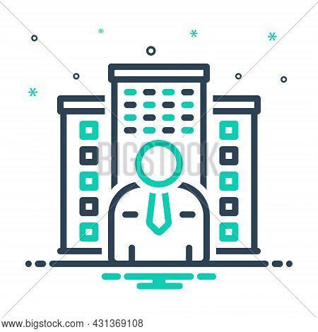 Mix Icon For Owner Holder Property Estate House Mortgage Apartment Master Proprietor Landlord
