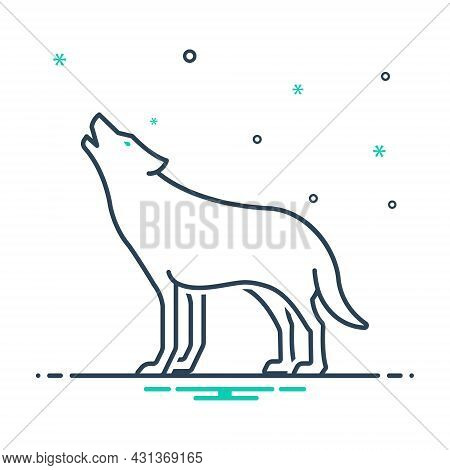 Mix Icon For Wolf Howl Wilderness Fox Canine Danger Jackal Carnivorous Nature Animal Jungle Wildlife