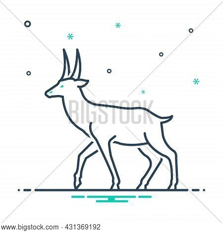 Mix Icon For Deer Stag Reindeer Horned Herbivores Nature Animal Jungle Wildlife Zoo