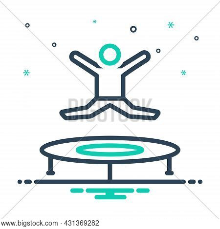 Mix Icon For Jumping Jump-up Jump Joy Leaping Spurt Skipjack Kid Bounce Playful Youth Play Game