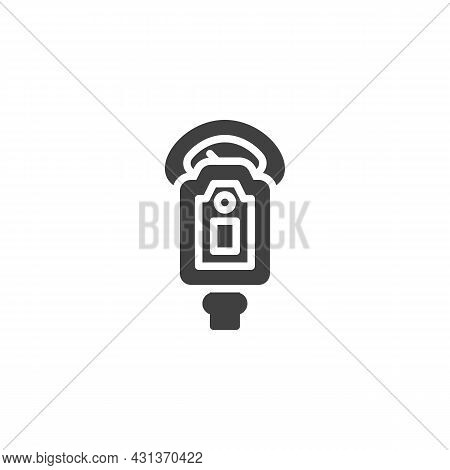 Parking Meter Vector Icon. Filled Flat Sign For Mobile Concept And Web Design. Car Parking Meter Gly