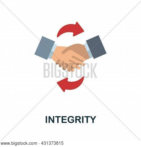 Integrity Flat Icon. Colored Sign From Personality Collection. Creative Integrity Icon Illustration