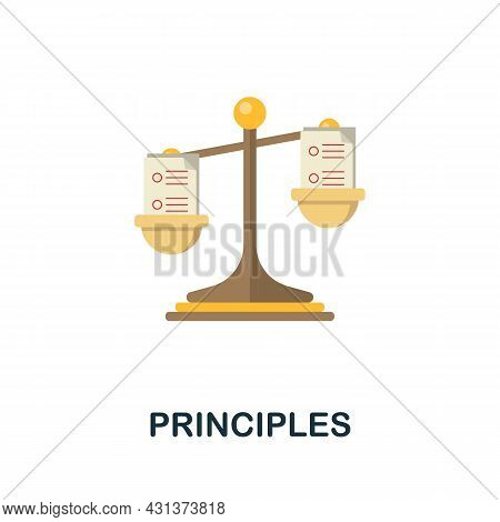 Principles Flat Icon. Colored Sign From Personality Collection. Creative Principles Icon Illustratio