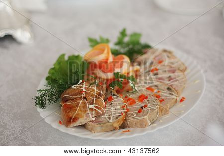 Tasty Meat rolls with mayonnaise