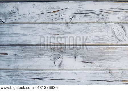 Rustic Weathered Blue And White Grunge Rustic Wood Panels. Wooden Aged Textures Planks Stock Photo