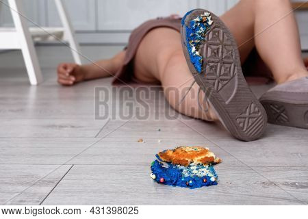 Woman Fell After Slipping On Cupcake Indoors. Troubles Happen