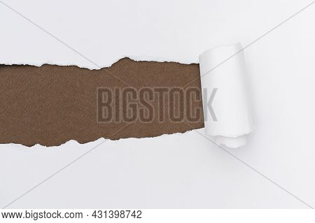Torn Paper White Background Simple Handmade Craft