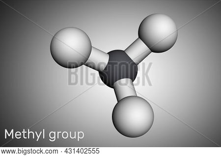 Methyl Group (me), Ch3. It Is Alkyl Functional Group, Structural Unit Of Organic Compounds Molecular