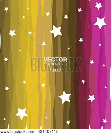 Colorful Vector Background, Eps Background, Multi-shape Colors, Stars, Colors, Abstract Background V