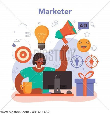 Marketer. Brand Or Product Advertising And Promotion. Specialist Developing