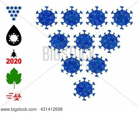 Triangle Virus Grapes Polygonal 2d Illustration, And Similar Icons. Virus Grapes Is Filled With Tria