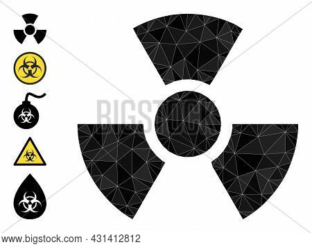 Triangle Radioactivity Polygonal Icon Illustration, And Similar Icons. Radioactivity Is Filled With