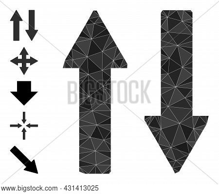 Triangle Vertical Exchange Arrows Polygonal Symbol Illustration, And Similar Icons. Vertical Exchang