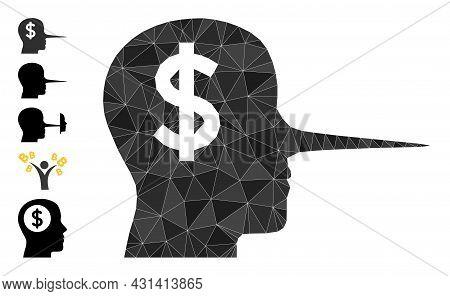 Triangle Financial Liar Polygonal Symbol Illustration, And Similar Icons. Financial Liar Is Filled W