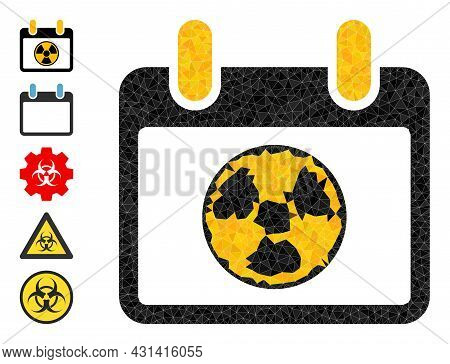 Triangle Atomic Calendar Page Polygonal Symbol Illustration, And Similar Icons. Atomic Calendar Page