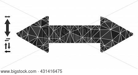 Triangle Horizontal Exchange Arrow Polygonal Icon Illustration, And Similar Icons. Horizontal Exchan