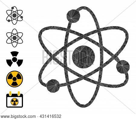Triangle Atom Electrons Polygonal Symbol Illustration, And Similar Icons. Atom Electrons Is Filled W