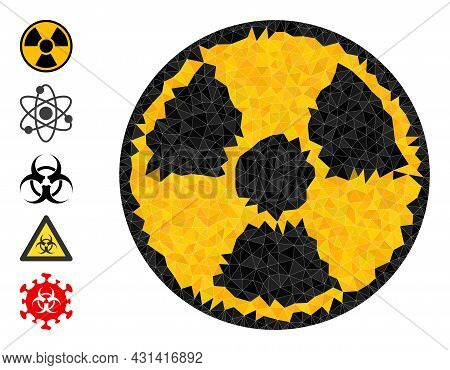 Triangle Radioactive Polygonal 2d Illustration, And Similar Icons. Radioactive Is Filled With Triang