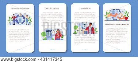 Real Estate Agency Service Mobile Application Banner Set. Qualified Realtor.