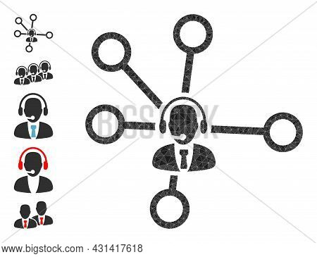 Triangle Call Center Links Polygonal Icon Illustration, And Similar Icons. Call Center Links Is Fill