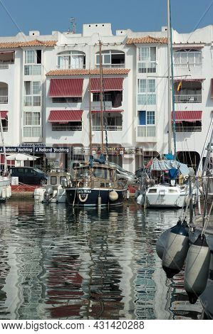 Almerimar, Almeria Province, Andalusia, Spain - July 26 2015: Yachts And Apartments