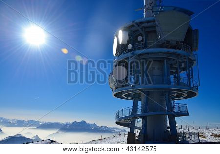 Top Of Rigi Alp In Switzerland, Europe