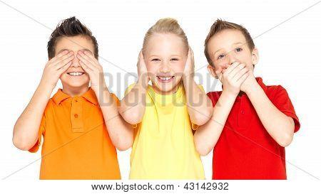 Happy Children Doing