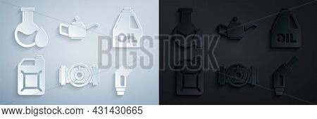 Set Industry Metallic Pipes And Valve, Canister For Motor Machine Oil, Gasoline, Gasoline Pump Nozzl