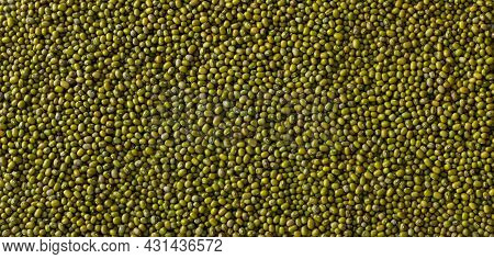 Beans Mung Bean, Background Or Texture, Top View