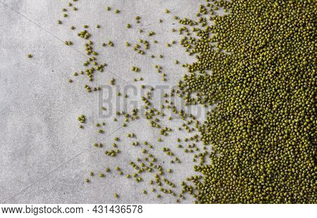 Beans Mung Bean, Background Or Texture, Top View, Space