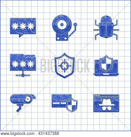 Set Shield, Credit Card With Shield, Browser Incognito Window, Laptop Protected, Security Camera, Fo