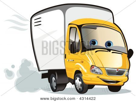 Vector Cartoon Delivery / Cargo Truck