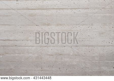 Rough Concrete Wall. Building With Ready Mixed Concrete