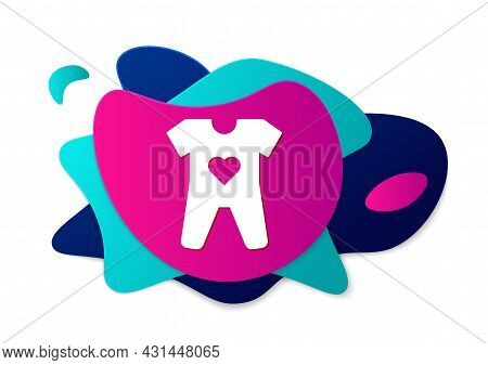 Color Baby Clothes Icon Isolated On White Background. Baby Clothing For Baby Girl And Boy. Baby Body