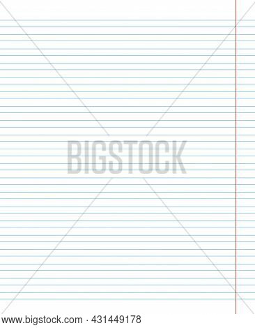 Grid Paper. Abstract Striped Background With Color Horizontal Lines. Geometric Pattern For School, W