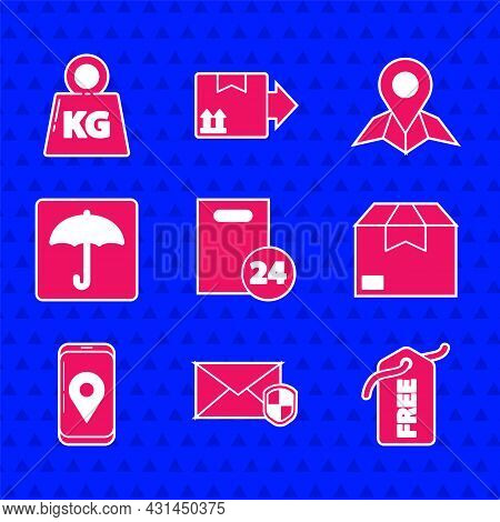 Set Delivery With Cardboard Boxes, Envelope Shield, Price Tag Free, Carton, Mobile App Delivery Trac