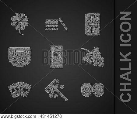 Set Casino Poker Tournament Invitation, Stick For Chips, Poker Player, Slot Machine With Grape, Deck