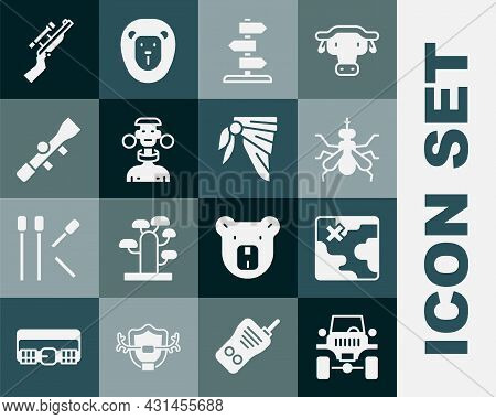 Set Off Road Car, Africa Safari Map, Mosquito, Road Traffic Sign, African Tribe Male, Sniper Optical